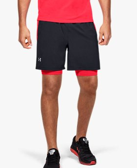 Shorts de Corrida Masculino Under Armour Launch SW 2 em 1